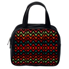 Seamless Native Zigzags By Flipstylez Designs Classic Handbags (one Side)
