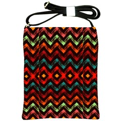 Seamless Native Zigzags By Flipstylez Designs Shoulder Sling Bags by flipstylezdes