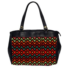 Seamless Native Zigzags By Flipstylez Designs Office Handbags (2 Sides)
