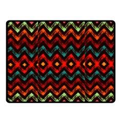 Seamless Native Zigzags By Flipstylez Designs Fleece Blanket (small)