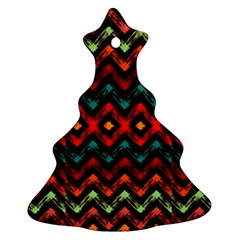 Seamless Native Zigzags By Flipstylez Designs Christmas Tree Ornament (two Sides)