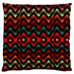 Seamless Native Zigzags By Flipstylez Designs Large Flano Cushion Case (one Side) by flipstylezdes