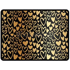 Cluster Of Tiny Gold Hearts Seamless Vector Design By Flipstylez Designs Fleece Blanket (large)