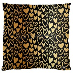 Cluster Of Tiny Gold Hearts Seamless Vector Design By Flipstylez Designs Standard Flano Cushion Case (one Side) by flipstylezdes