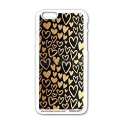 Cluster Of Tiny Gold Hearts Seamless Vector Design By Flipstylez Designs Apple Iphone 6/6s White Enamel Case