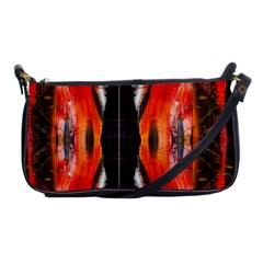 Retro Native Orange Graffiti By Kiekie Strickland Shoulder Clutch Bags