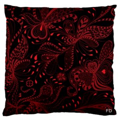 Seamless Dark Burgundy Red Seamless Tiny Florals Standard Flano Cushion Case (one Side) by flipstylezdes