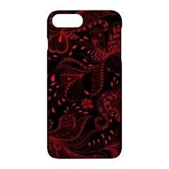 Seamless Dark Burgundy Red Seamless Tiny Florals Apple Iphone 7 Plus Hardshell Case