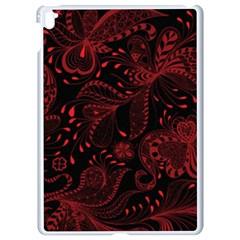 Seamless Dark Burgundy Red Seamless Tiny Florals Apple Ipad Pro 9 7   White Seamless Case