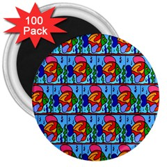 Fish 3  Magnets (100 Pack)