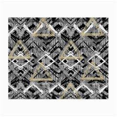 Retro Black And White Gold Design By Kiekiestrickland Small Glasses Cloth
