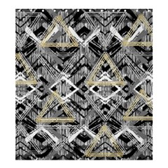Retro Black And White Gold Design By Kiekiestrickland Shower Curtain 66  X 72  (large)
