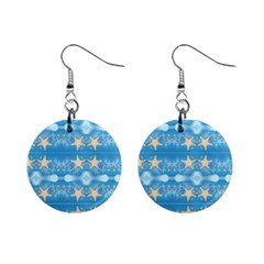 Adorably Cute Beach Party Starfish Design Mini Button Earrings