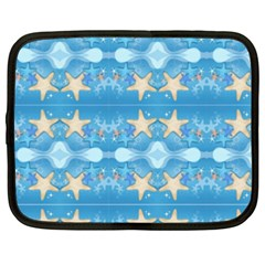 Adorably Cute Beach Party Starfish Design Netbook Case (xxl)