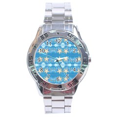 Adorably Cute Beach Party Starfish Design Stainless Steel Analogue Watch