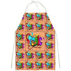 Music Full Print Aprons