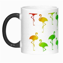 Flamingo Pattern Rainbow Colors Morph Mugs
