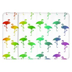 Flamingo Pattern Rainbow Colors Samsung Galaxy Tab 8 9  P7300 Flip Case by CrypticFragmentsColors