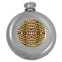 Leopard Skin Round Hip Flask (5 Oz)