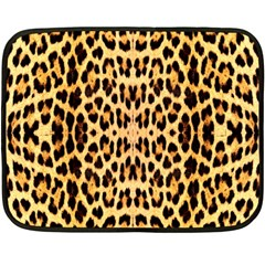 Leopard Skin Double Sided Fleece Blanket (mini)