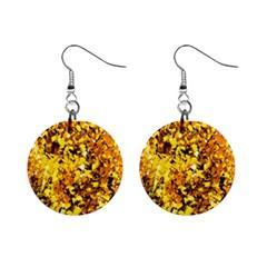 Birch Tree Yellow Leaves Mini Button Earrings