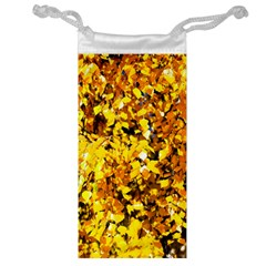 Birch Tree Yellow Leaves Jewelry Bags by FunnyCow