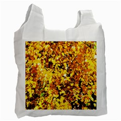 Birch Tree Yellow Leaves Recycle Bag (two Side)  by FunnyCow