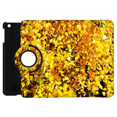 Birch Tree Yellow Leaves Apple Ipad Mini Flip 360 Case by FunnyCow