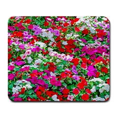 Colorful Petunia Flowers Large Mousepads by FunnyCow