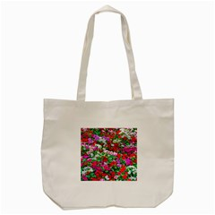 Colorful Petunia Flowers Tote Bag (cream) by FunnyCow
