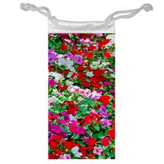 Colorful Petunia Flowers Jewelry Bags