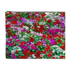 Colorful Petunia Flowers Cosmetic Bag (xl) by FunnyCow
