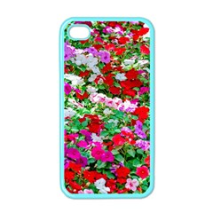 Colorful Petunia Flowers Apple Iphone 4 Case (color) by FunnyCow