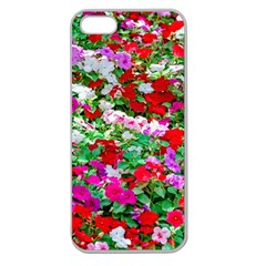 Colorful Petunia Flowers Apple Seamless Iphone 5 Case (clear) by FunnyCow