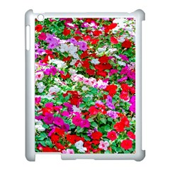 Colorful Petunia Flowers Apple Ipad 3/4 Case (white) by FunnyCow