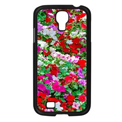 Colorful Petunia Flowers Samsung Galaxy S4 I9500/ I9505 Case (black) by FunnyCow