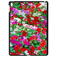 Colorful Petunia Flowers Apple Ipad Pro 9 7   Black Seamless Case
