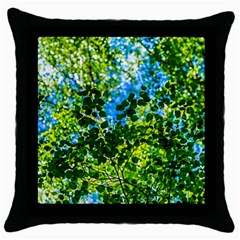 Forest   Strain Towards The Light Throw Pillow Case (black) by FunnyCow
