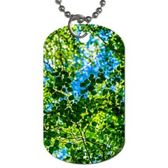 Forest   Strain Towards The Light Dog Tag (two Sides) by FunnyCow