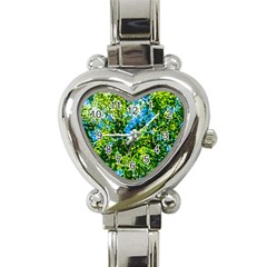 Forest   Strain Towards The Light Heart Italian Charm Watch by FunnyCow