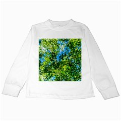 Forest   Strain Towards The Light Kids Long Sleeve T Shirts