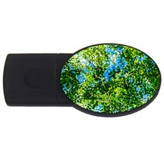 Forest   Strain Towards The Light Usb Flash Drive Oval (4 Gb) by FunnyCow