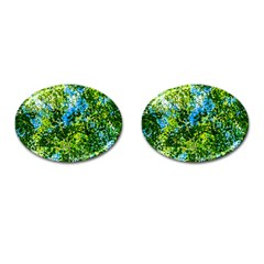 Forest   Strain Towards The Light Cufflinks (oval) by FunnyCow