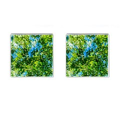 Forest   Strain Towards The Light Cufflinks (square) by FunnyCow