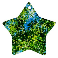 Forest   Strain Towards The Light Star Ornament (two Sides)