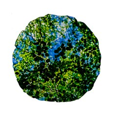 Forest   Strain Towards The Light Standard 15  Premium Round Cushions by FunnyCow