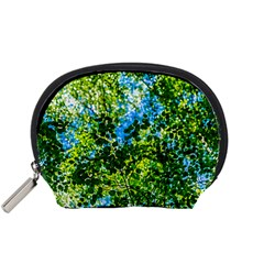Forest   Strain Towards The Light Accessory Pouches (small)  by FunnyCow