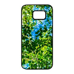 Forest   Strain Towards The Light Samsung Galaxy S7 Edge Black Seamless Case