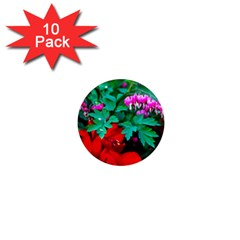 Bleeding Heart Flowers 1  Mini Magnet (10 Pack)