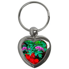 Bleeding Heart Flowers Key Chains (heart)  by FunnyCow